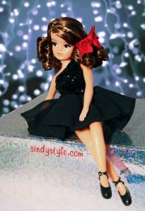 Sindy wears Julien MacDonald's Little Black Dress